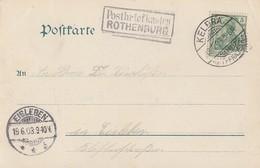 DR AK EF Minr.70 Kelbra 19.6.03 Nebenstempel R2 Postbriefkasten Rothenburg Gel. Nach Eisleben - Brieven En Documenten