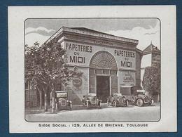 Toulouse - Papeteries Du Midi - Cartes De Visite