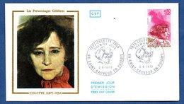 Enveloppe 1er Jour  / Colette / Saint Sauveur En Puisaye / 2-6-73 - 1970-1979