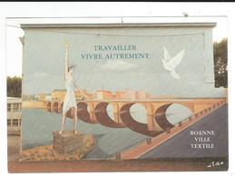 42 CPM Roanne Fresque Rue Jean Moulin Refus Du Chomage La Vie En Pull  2scan TBE Grand Format - Roanne