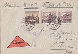 DR NN-Brief Mif Minr.730,2x 736 Karlsruhe 2.22.39 - Briefe U. Dokumente