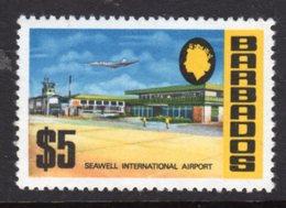BARBADOS - 1970 $5 CHALK SURFACED DEFINITIVE WMK W12 S/W MNH ** SG 414 - Barbades (1966-...)