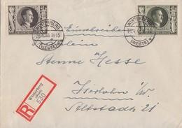 DR R-Brief Mif Minr.844,849 Winterberg 20.4.43 Gel. Nach Iserlohn - Briefe U. Dokumente