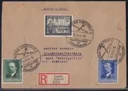 DR R-Brief Mif Minr.760,761,776 SST Laucha 15.8.41 - Briefe U. Dokumente