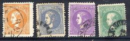 SERBIA 1879-80 Prince Milan 5th Printing Set Of 4 Values Used.  Michel 12-18 V - Serbia