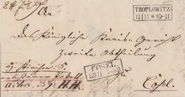 Preussen Paketbegleitbrief R2 Troplowitz 11.11. Nach R2 Cosel 13.11 Mit Inhalt - Preussen