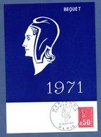 Carte 1er Jour  / Marianne / Paris  / 2-1-71 - Cartes-Maximum