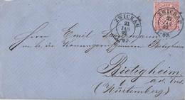NDP Brief EF Minr.4 K2 Zwickau 21.1.69 Gel. Nach Bietigheim - Norddeutscher Postbezirk