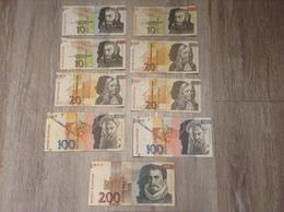 9 Banknoten 490 Tolarjev Banka Slovenije Slowenien Jahr 1992, 1997 - Slowenien
