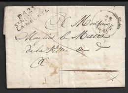 1828 - 52 / ST NICOLAS / LA MEURTE ( Meurthe ) A Mons. Le Maire - Marcophilie (Lettres)