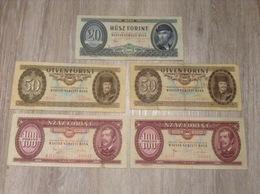 5 Banknoten 320 Forint Ungarn Magyar Nemzeti Bank Jahr 1975, 1980 - Hongrie