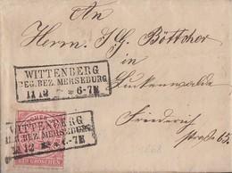 NDP Brief EF Minr.16 R3 Wittenberg Reg. Bez. Merseburg 11.12 Mit Inhalt - Norddeutscher Postbezirk