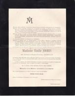 VARSSENAERE Gabrielle VERMYLEN épouse Emile JOORIS  68 Ans 1908 Famille HOUTART DUQUESNE - Obituary Notices