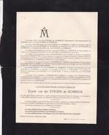 ROSEE LEYSIN Louis-Eugène Van Der STEGEN De SCHRIECK 1905-1924 Faire-part Mortuaire - Obituary Notices