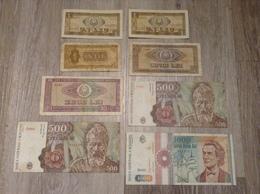 8 Banknoten 2018 Leu Lei Banca Nationale A Romaniei Romania Rumänien Jahr 1966, 1991 - Roumanie