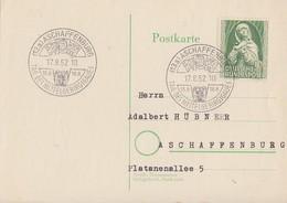 Bund Karte EF Minr.151 SST Aschaffenburg 17.8.52 - Berlin (West)