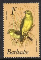 BARBADOS - 1979 1c FINCH BIRD DEFINITIVE WMK W14 S/W MNH ** SG 622 - Barbades (1966-...)