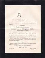 MEERENDRE Frédéric Comte Van Der STEGEN De PUTTE 1847-1931 Lieutenant-général Retraité Famille De LATHUY - Obituary Notices