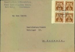 1944, Dienstbrief Mit Viererblock 30 H Ab Dürnfellern - Bosnie-Herzegovine