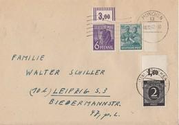 Gemeina. Brief Mif Minr.912 OR Platte, 944 OR Walze, 949 SR München 8.12.47 - Gemeinschaftsausgaben