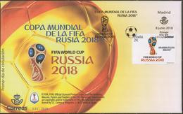 2018 SPAIN ESPAGNE ESPAÑA  Football. FIFA World Cup In Russia FDC - 2018 – Russland