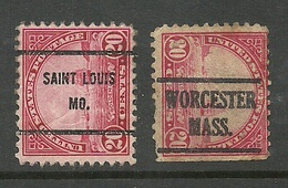 USA 1923/31 St. Louis & Worcester Pre-cancel Michel 279 Golden Gate Ship - United States