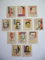 Czechoslovakia Series 24 Matchbox Label 1964 - Writers And Quotes - Capek, Borovsky, Komensky, Hasek..... - Boites D'allumettes - Etiquettes