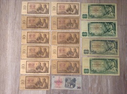 16 Banknoten 530 Korun Bankovka Statni Banky Ceskoslovenske CSSR Tschechoslowakei Jahr 1960, 1961,1970 - Tchécoslovaquie