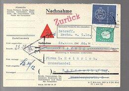 47 Pfennig!!! Europa (NACHNAHME = Rembours) & Zurück 1959 Planegg > Heinrich Bayreuth> RESENT (B7-16) - [7] République Fédérale