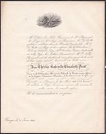 BRUGES BRUGGE Thérèse PICOT Veuve Chevalier BOUSSART Colonel De La Gendarmerie 75 Ans 1850 Famille POPP - Obituary Notices