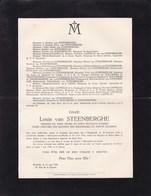 HOUGAERDE MARIAKERKE Louis Van STEENBERGHE 1840-1928 Saint-Josse Familles CAPELLE WALCKIERS - Obituary Notices