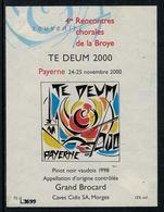 Rare // Etiquette De Vin // Musiques // Pinot Noir, Rencontres Chorales De La Broye 2000 - Musique