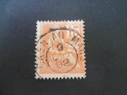 MOUCHON  OBLITERATION  CAEN AU MANS  1902 - Marcophilie (Timbres Détachés)