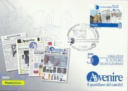 Italien '50 J. Tageszeitung Avvenire' / Italy '50th Ann. Of Avvenire Daily Newspaper' MK/MC 2018 - Berufe