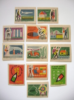 Czechoslovakia Series 12 Matchbox Label 1964 - Saving - For New Home, Modern Furniture, For Traveling, On Holiday..... - Boites D'allumettes - Etiquettes