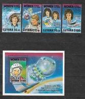 #B110# GUYANA MICHEL 3049/3052+BL 55 MNH** WOMEN IN SPACE. - Guyane (1966-...)