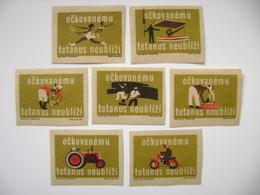 Czechoslovakia Series 7 Matchbox Label 1964 - Vaccination Against Tetanus - Boites D'allumettes - Etiquettes