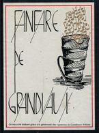 Rare // Etiquette De Vin // Musique // Grandvaux-Villette, Fanfare De Grandvaux - Musique