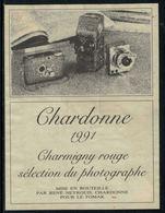 Rare // Etiquette De Vin // Art-Photographie // Chardonne Rouge, Sélection Du Photographe - Art