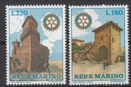 San Marino 1970 Bf. 817-818 Congresso Rotary  Lions Club Full Set Nuovo MNH - Rotary, Lions Club