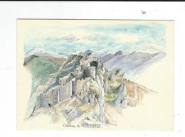CPM 11 Chateau Cathare Peyrepertuse Aquarelle De Robert Lépine écrite TBE - France