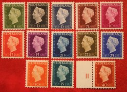 Koningin Wilhelmina Zegels NVPH 474-489 (Mi 477-489) 1947-1948 Ongebruikt / MH NEDERLAND / NIEDERLANDE - Period 1891-1948 (Wilhelmina)