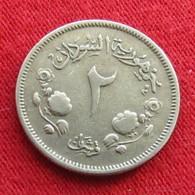 Sudan 2 Ghirsh 1956 KM# 33 Lt 638  Sudão - Soudan