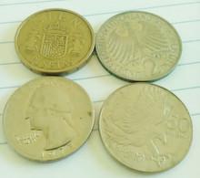 STOCK 4 MONETE VARI STATI ESTERI - 1990 - 1973 - 1966 - 1984 + LIBRO IN OMAGGIO - Altre Monete