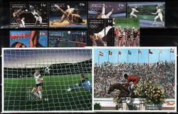 Dominica, 1995, Atlanta Olympics, Los Angeles Medalists, 8 Stamps +2 Blocks - Summer 1984: Los Angeles