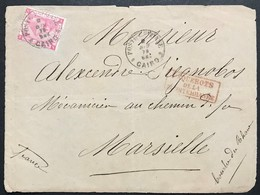 "1 Piastre, Front Letter From Cairo ""Poste Egiziane"" 2/6/1879 To France (Marseille) + Paquebots De La Mediterranee - Egitto"