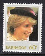 BARBADOS - 1982 60c DIANA BIRTHDAY STAMP FINE MNH ** SG 706 - Barbados (1966-...)