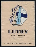 Rare // Etiquette De Vin // Bateau à Voile // Lutry, Albatros - Bateaux à Voile & Voiliers