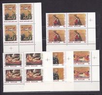 1990 Vaticano Vatican NATALE CHRISTMAS 4 Serie Di 5v. In Quartina MNH** Bl.4 - Vaticano