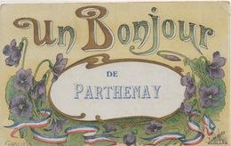 CPA 79 Un Bonjour De  PARTHENAY 1917 -Graciosa Avec Pensées - Souvenir De...